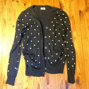 Polka dotted cardigan